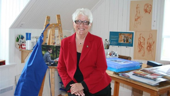 Florence Dionne dans son atelier. Photo Cathy Gagnon / infodimanche.com