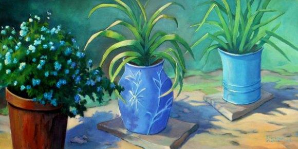 Forence Dionne, Un pot... deux pots, trois pots... tout de bleu, 16 x 36