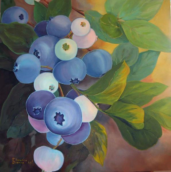 Florence Dionne, Bleuets, 36 x 36