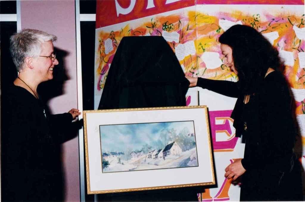 Florence Duionne et la comédienne Sylvie Drapeau